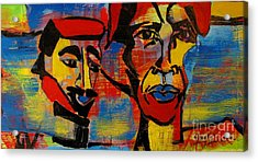 Les Gens A La Lac Three Acrylic Print by Grace Liberator