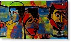 Les Gens A La Lac Two Acrylic Print by Grace Liberator