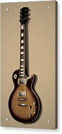 Les Paul Electric Guitar Acrylic Print by Bill Cannon