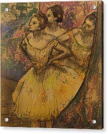 Les Trois Danseuses, C.1896-1905 Acrylic Print by Edgar Degas