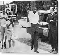 Lester Maddox Picketed Acrylic Print by Underwood Archives