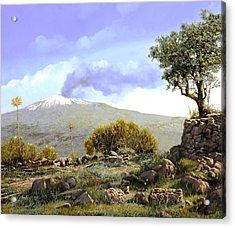 l'Etna  Acrylic Print by Guido Borelli