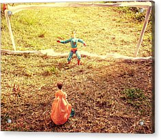 Let's Play Football Together Acrylic Print by Trav Shadows