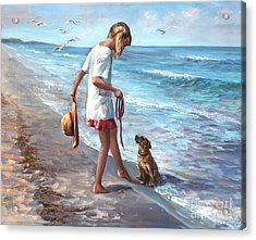 Let's Play Acrylic Print by Laurie Hein