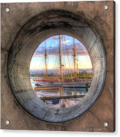 Let's Pretend It's A Porthole Acrylic Print by Heidi Smith