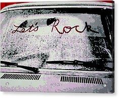 Lets Rock Acrylic Print by Luis Ludzska