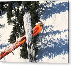 Lets Toast Our Skis Together Acrylic Print by Kym Backland