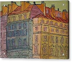 L'europe  Acrylic Print by Oscar Penalber