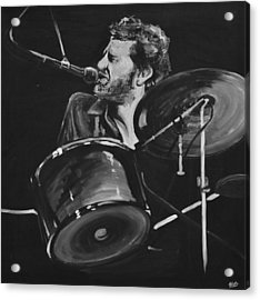 Levon Helm At Drums Acrylic Print by Melissa O'Brien