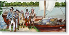 Lewis And Clark Acrylic Print by Beth Gramith