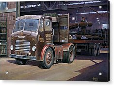 Leyland Beaver Artic. Acrylic Print by Mike  Jeffries