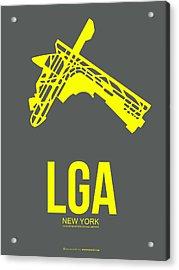 Lga New York Airport 1 Acrylic Print by Naxart Studio