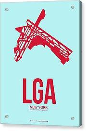 Lga New York Airport 2 Acrylic Print by Naxart Studio