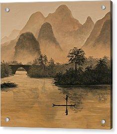 Li River China Acrylic Print by Darice Machel McGuire