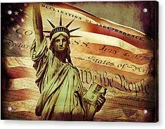 Declaration Of Independence Acrylic Print by Az Jackson