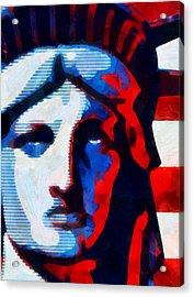 Liberty 3 Acrylic Print by Angelina Vick