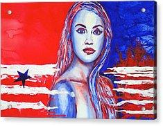 Liberty American Girl Acrylic Print by Anna Ruzsan