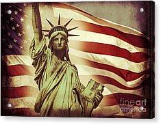 Liberty Acrylic Print by Az Jackson