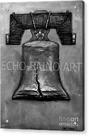 Liberty Bell - Gray With Logo Acrylic Print by Craig Green