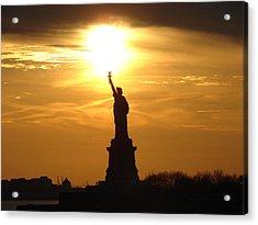 Liberty Flame Acrylic Print by John Synnott
