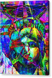 Liberty Head Abstract 20130618 Acrylic Print by Wingsdomain Art and Photography
