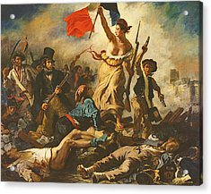 Liberty Leading The People, 28 July 1830 Acrylic Print by Ferdinand Victor Eugene Delacroix