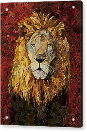 Liberty Lion Acrylic Print by Claire Muller