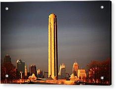 Liberty Memorial Acrylic Print by Warren Still
