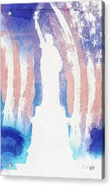 Liberty Acrylic Print by Mo T