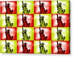 Liberty Pop Art Acrylic Print by Az Jackson