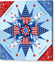 Liberty Quilt Acrylic Print by Valerie Drake Lesiak