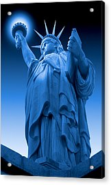 Liberty Shines On In Blue Acrylic Print by Mike McGlothlen