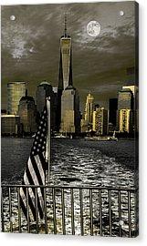 Liberty's Last Light Acrylic Print by Chris Lord