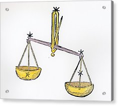 Libra An Illustration From The Poeticon Acrylic Print by Italian School