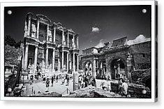Library Of Celsus - Ephesus Acrylic Print by Stephen Stookey