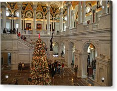 Library Of Congress - Washington Dc - 011315 Acrylic Print by DC Photographer