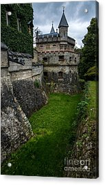 Lichtenstein Castle Moat - Baden Wurttemberg - Germany  Acrylic Print by Gary Whitton