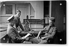 Lie Detector Test Acrylic Print by Underwood Archives