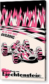 Liechtenstein 1967 Grand Prix Acrylic Print by Georgia Fowler