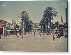 Life In A Beach Town Acrylic Print by Laurie Search
