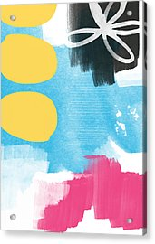 Life Is A Celebration-abstract Art Acrylic Print by Linda Woods