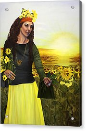 Life Is Precious Handle With Flowers Acrylic Print by Jane Autry