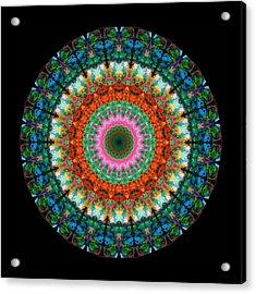 Life Joy - Mandala Art By Sharon Cummings Acrylic Print by Sharon Cummings