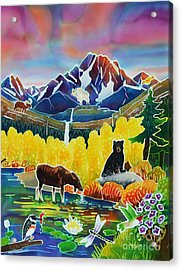 Life Of The Mountains Acrylic Print by Harriet Peck Taylor