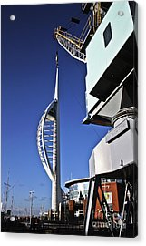 Lifting Portsmouth's Spinnaker Tower Acrylic Print by Terri Waters