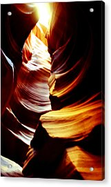 Light From Above - Canyon Abstract Acrylic Print by Aidan Moran