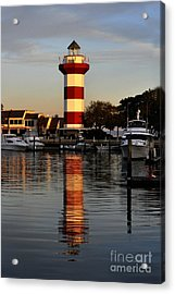Light House At Harbour Town Acrylic Print by Dan Friend