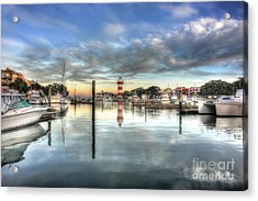 light house harbour town Hilton Head Acrylic Print by Dan Friend