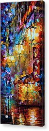 Light Of Night Acrylic Print by Leonid Afremov