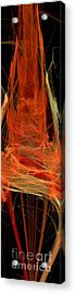 Light The Torch A Flickering Flame - Panorama  - Abstract - Fractal Art Acrylic Print by Andee Design